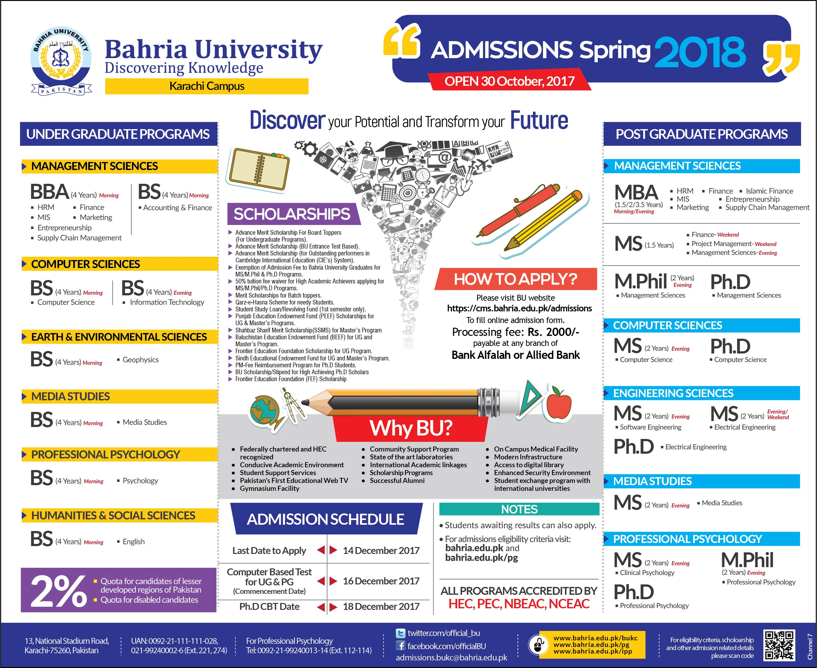 Admissions Open Spring 2018 – Institute of Professional Psychology