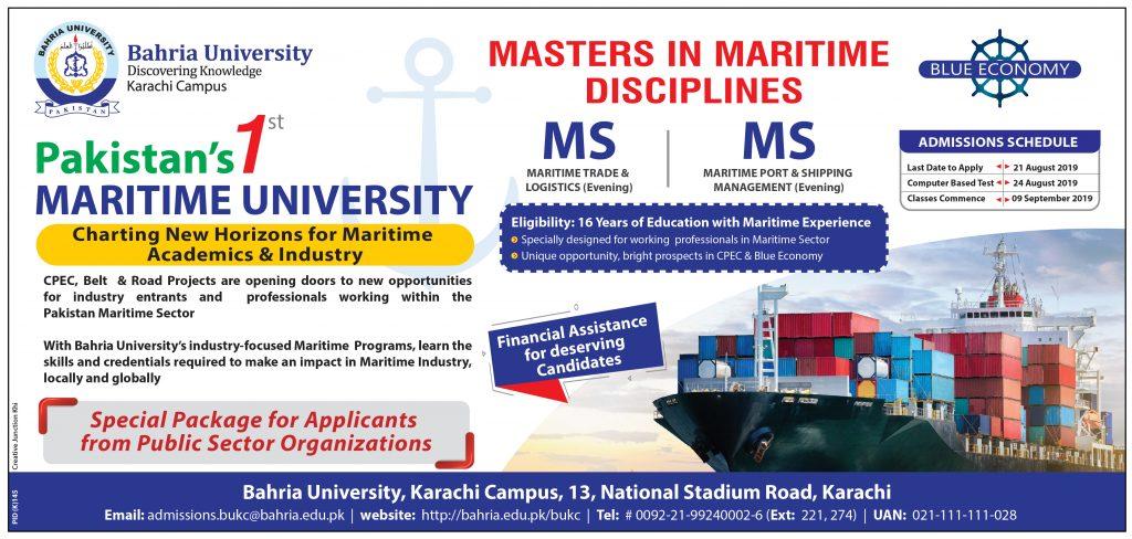 Pakistan's 1st Maritime University – Bahria University